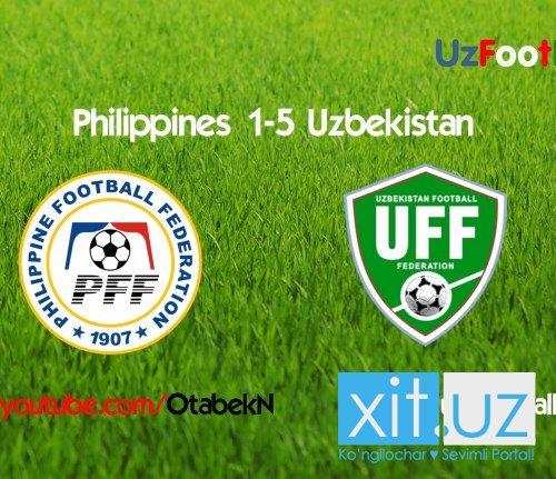 Филиппины 1:5 Узбекистан | Отборочный турнир ЧМ 2018 | 08.09.2015 4-тур (Tas-IX)