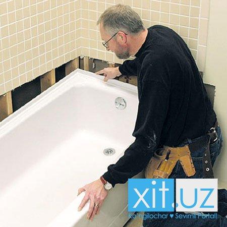 Как самостоятельно отреставрировать акриловую ванну?